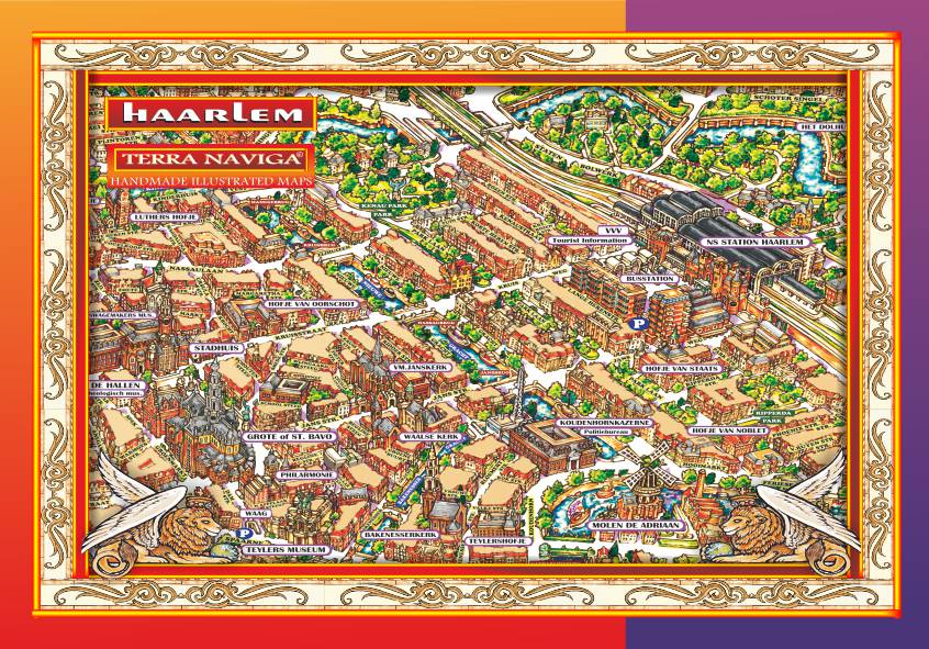 THE ILLUSTRATED MAP OF HAARLEM | Terra Naviga